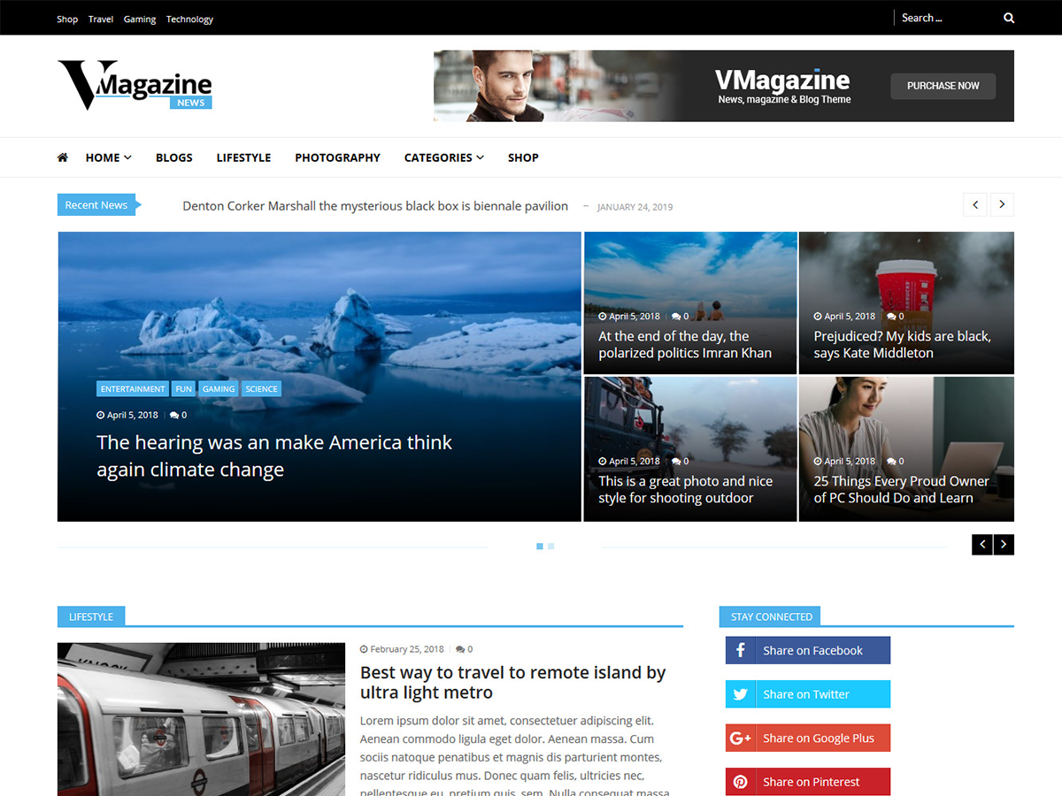 Vmagazine News Preview Wordpress Theme - Rating, Reviews, Preview, Demo & Download