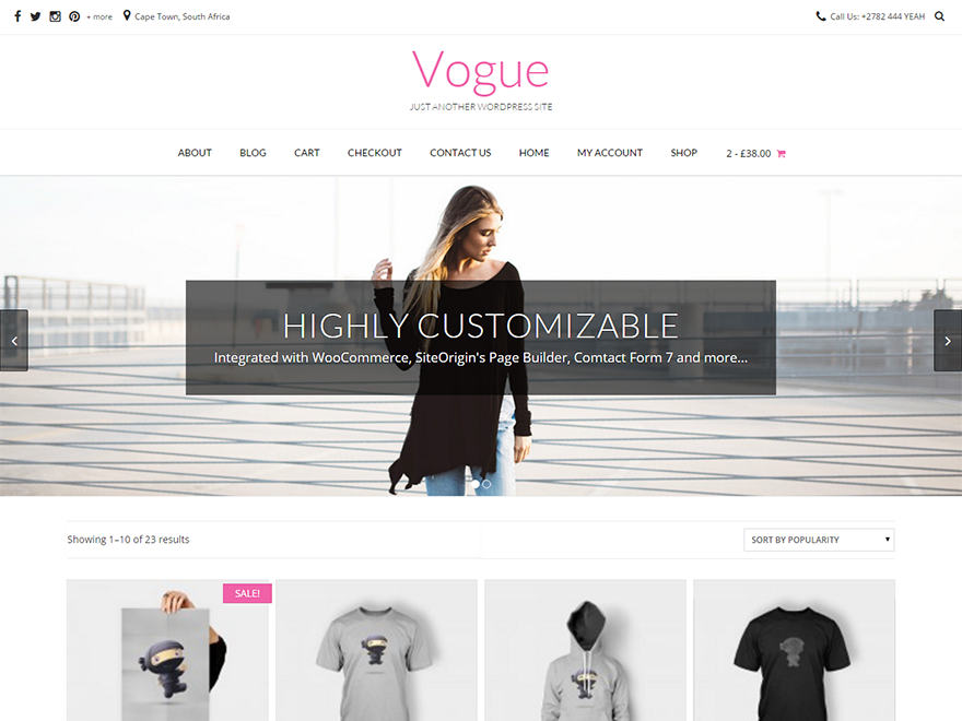 Vogue Preview Wordpress Theme - Rating, Reviews, Preview, Demo & Download
