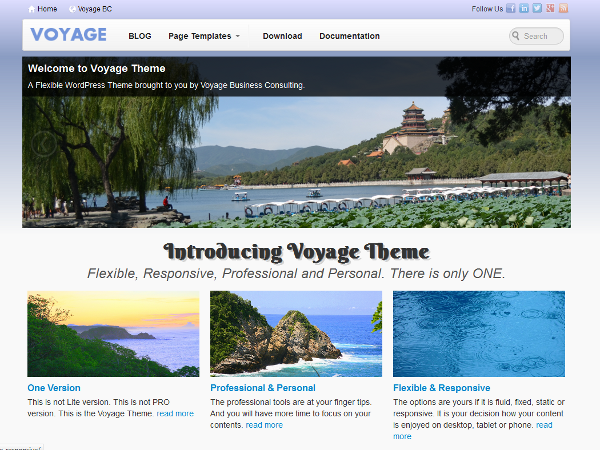 Voyage Preview Wordpress Theme - Rating, Reviews, Preview, Demo & Download