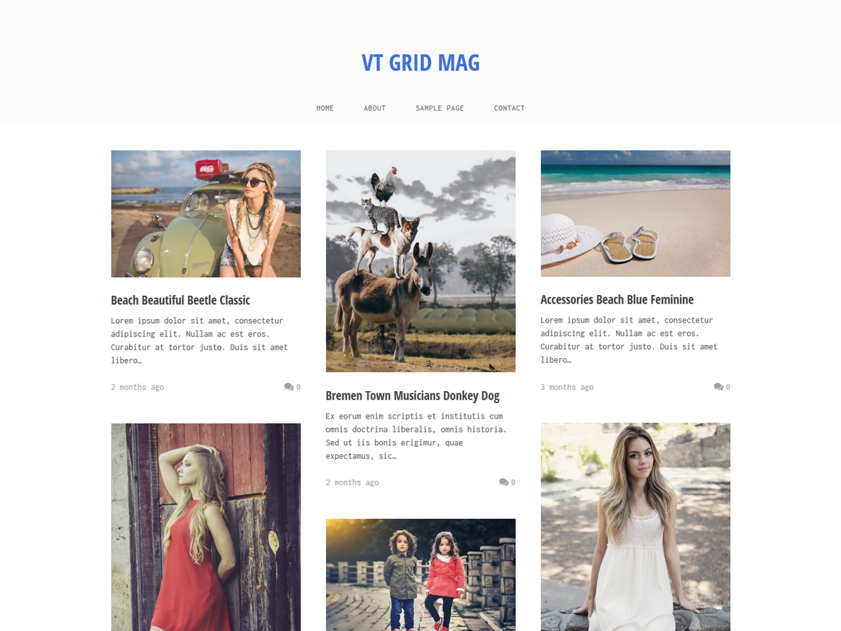 VT Grid Preview Wordpress Theme - Rating, Reviews, Preview, Demo & Download