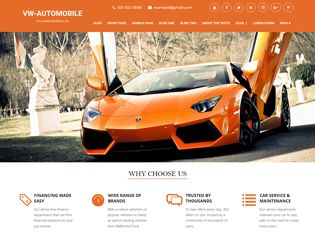 VW Automobile Preview Wordpress Theme - Rating, Reviews, Preview, Demo & Download