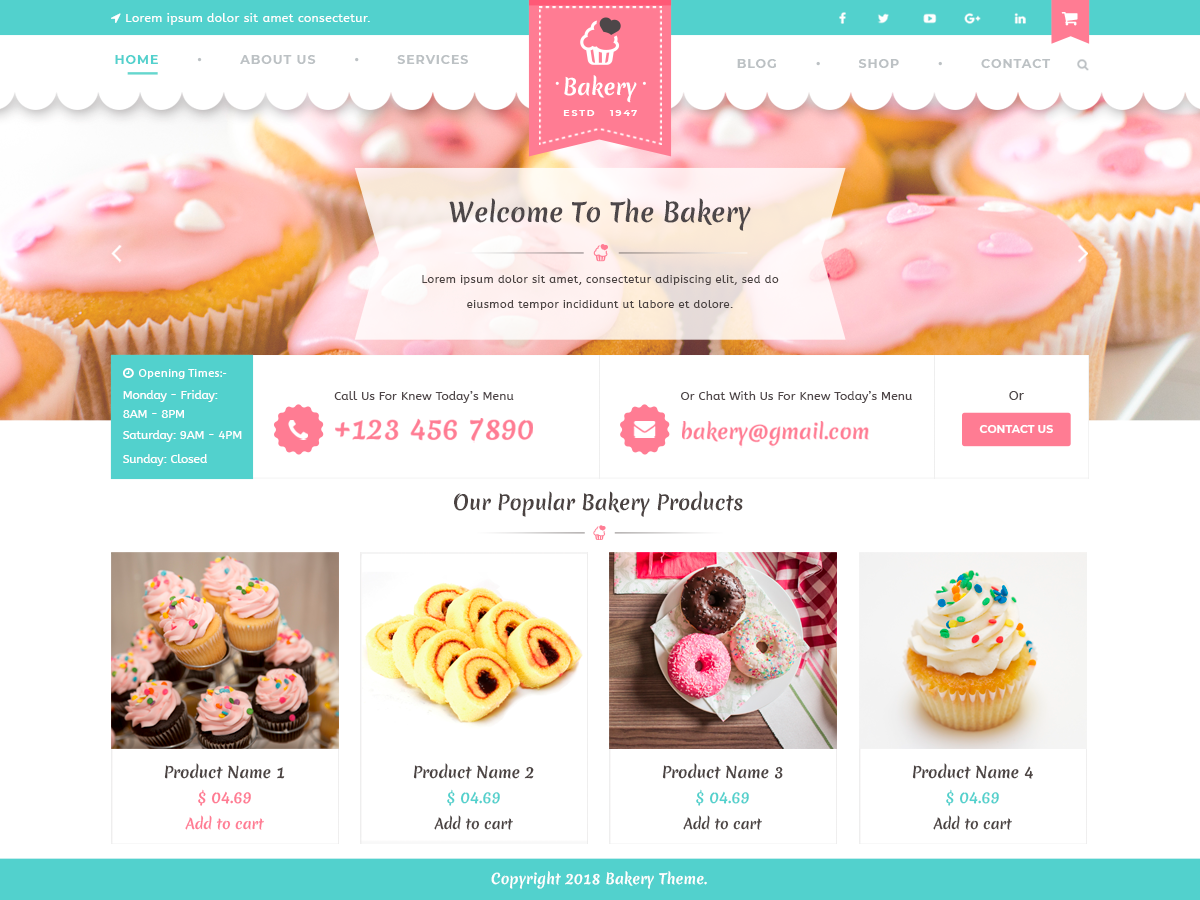 VW Bakery Preview Wordpress Theme - Rating, Reviews, Preview, Demo & Download