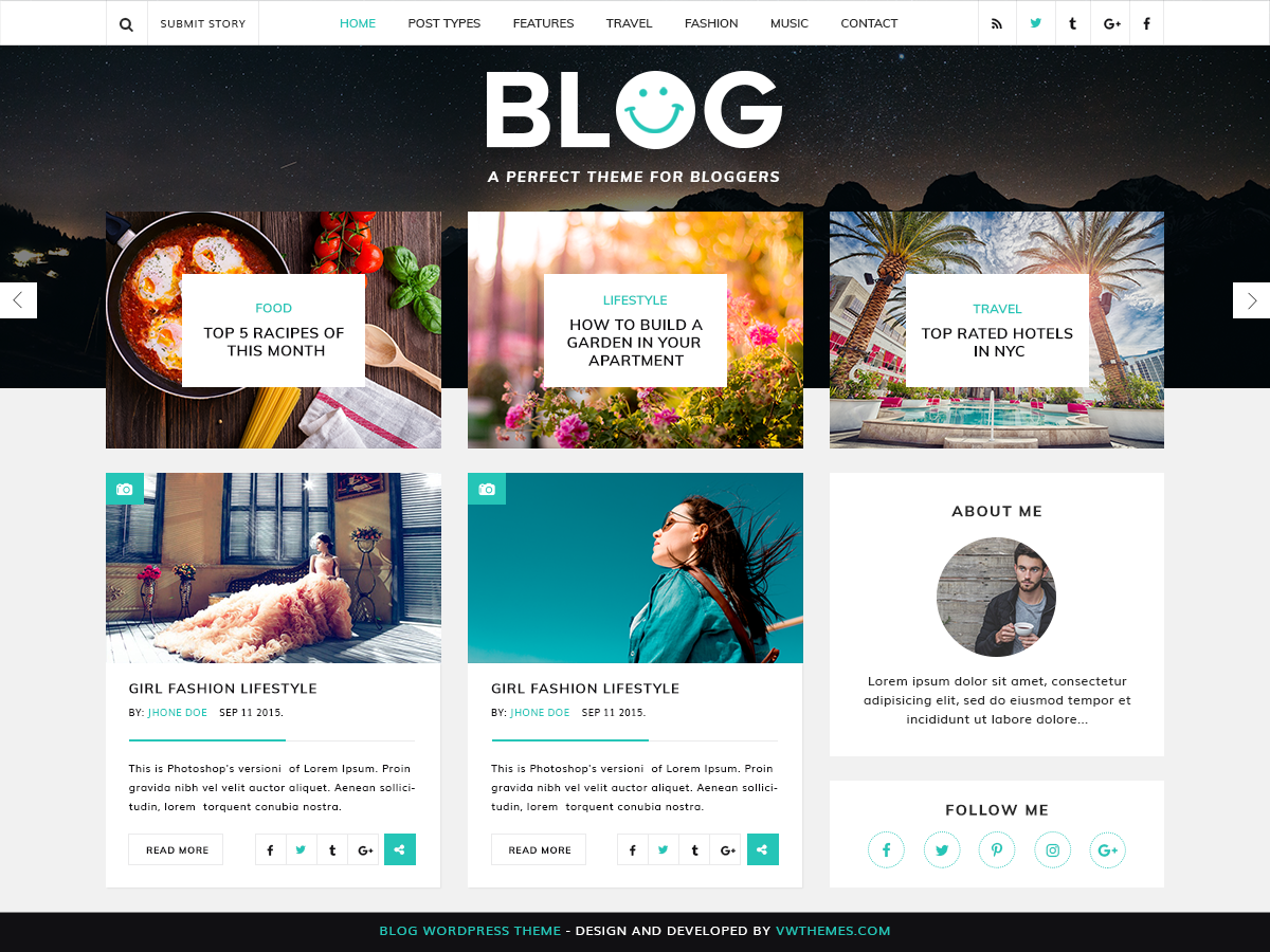 VW Blog Preview Wordpress Theme - Rating, Reviews, Preview, Demo & Download