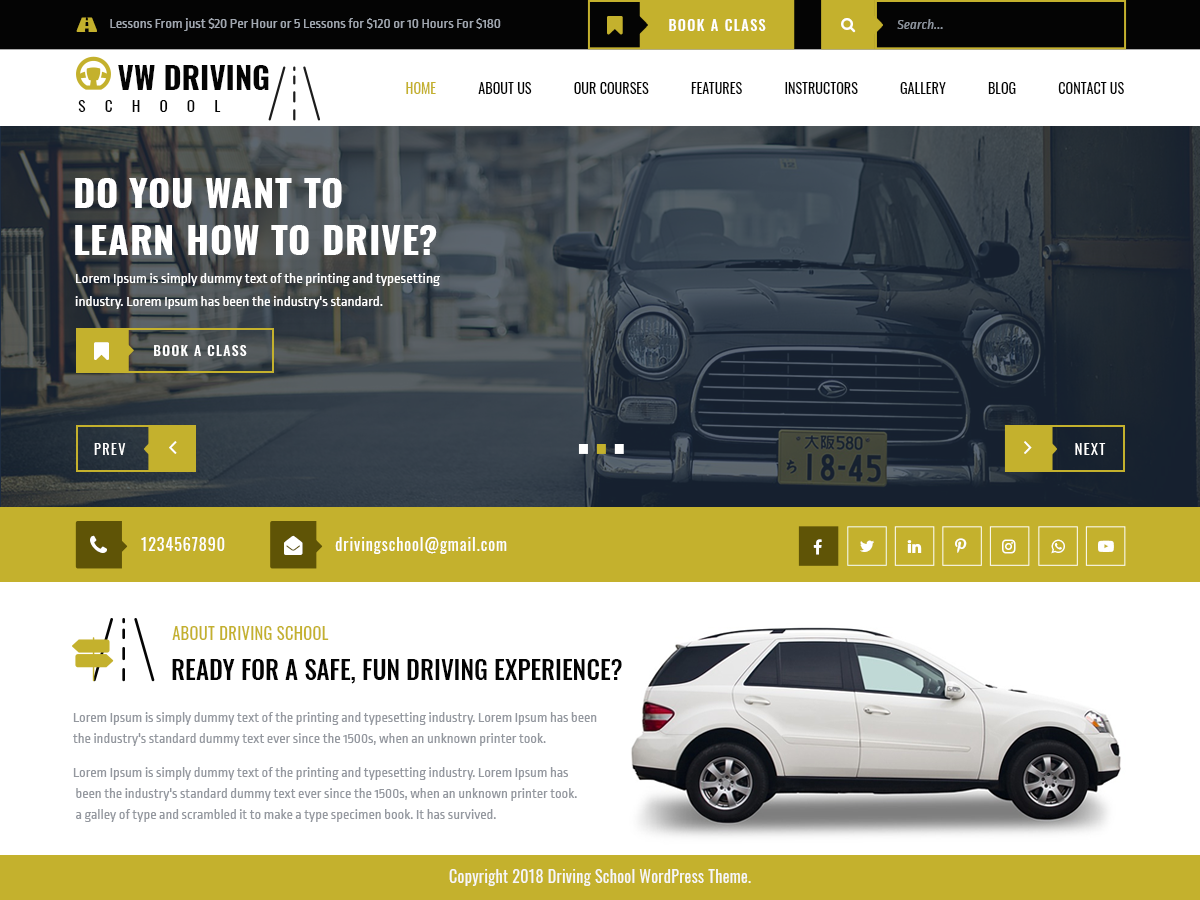 VW Driving Preview Wordpress Theme - Rating, Reviews, Preview, Demo & Download