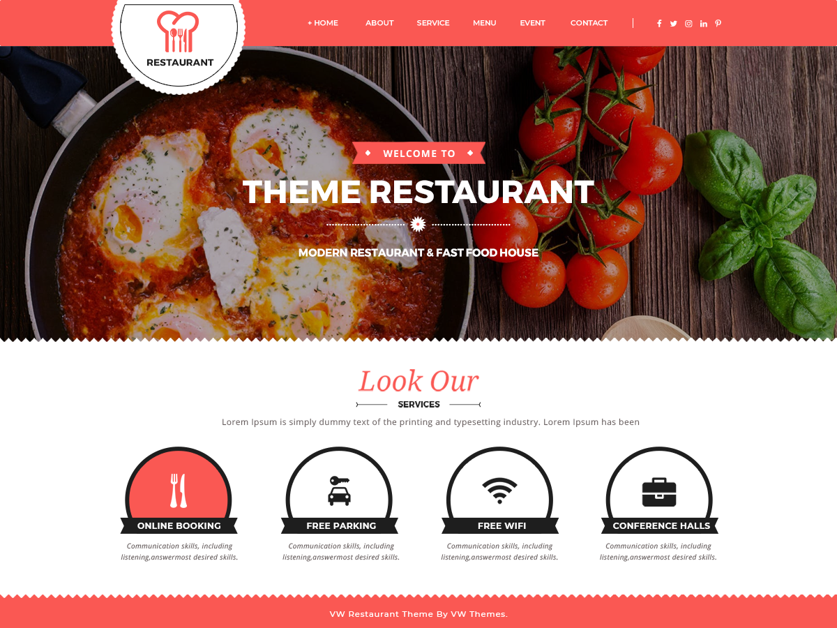 VW Food Preview Wordpress Theme - Rating, Reviews, Preview, Demo & Download