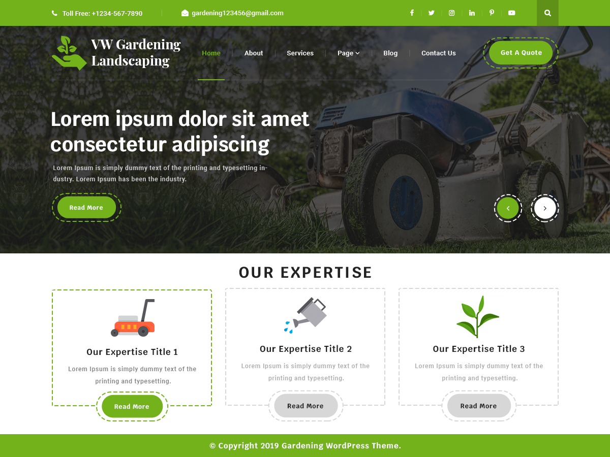 VW Gardening Preview Wordpress Theme - Rating, Reviews, Preview, Demo & Download