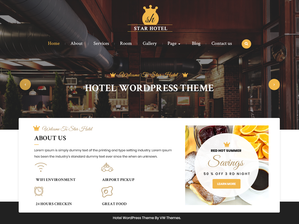 VW Hotel Preview Wordpress Theme - Rating, Reviews, Preview, Demo & Download