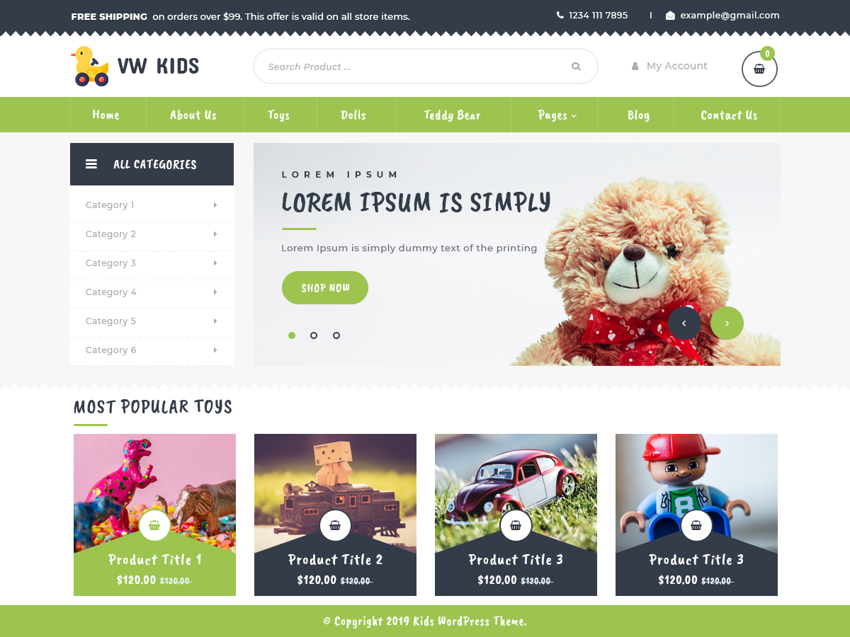 VW Kids Preview Wordpress Theme - Rating, Reviews, Preview, Demo & Download