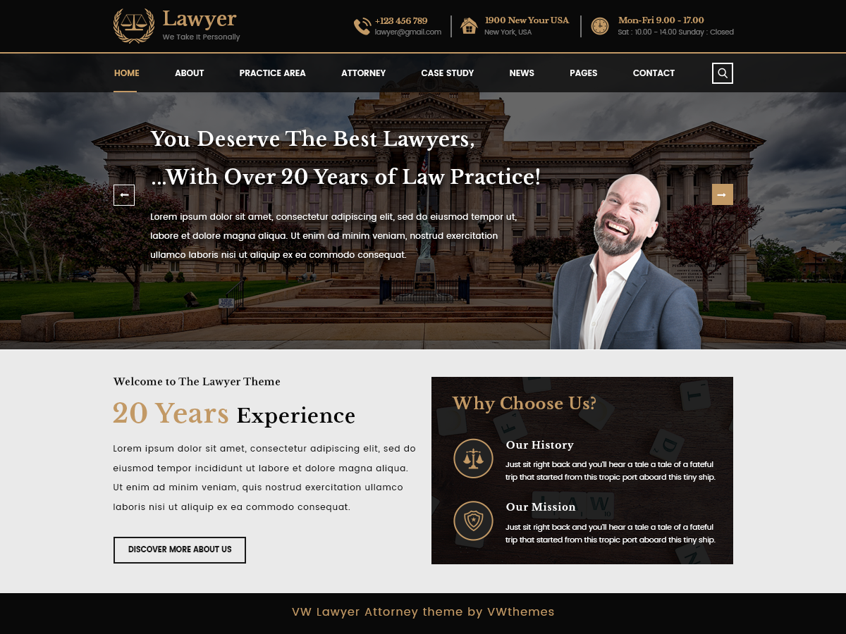 VW Lawyer Preview Wordpress Theme - Rating, Reviews, Preview, Demo & Download