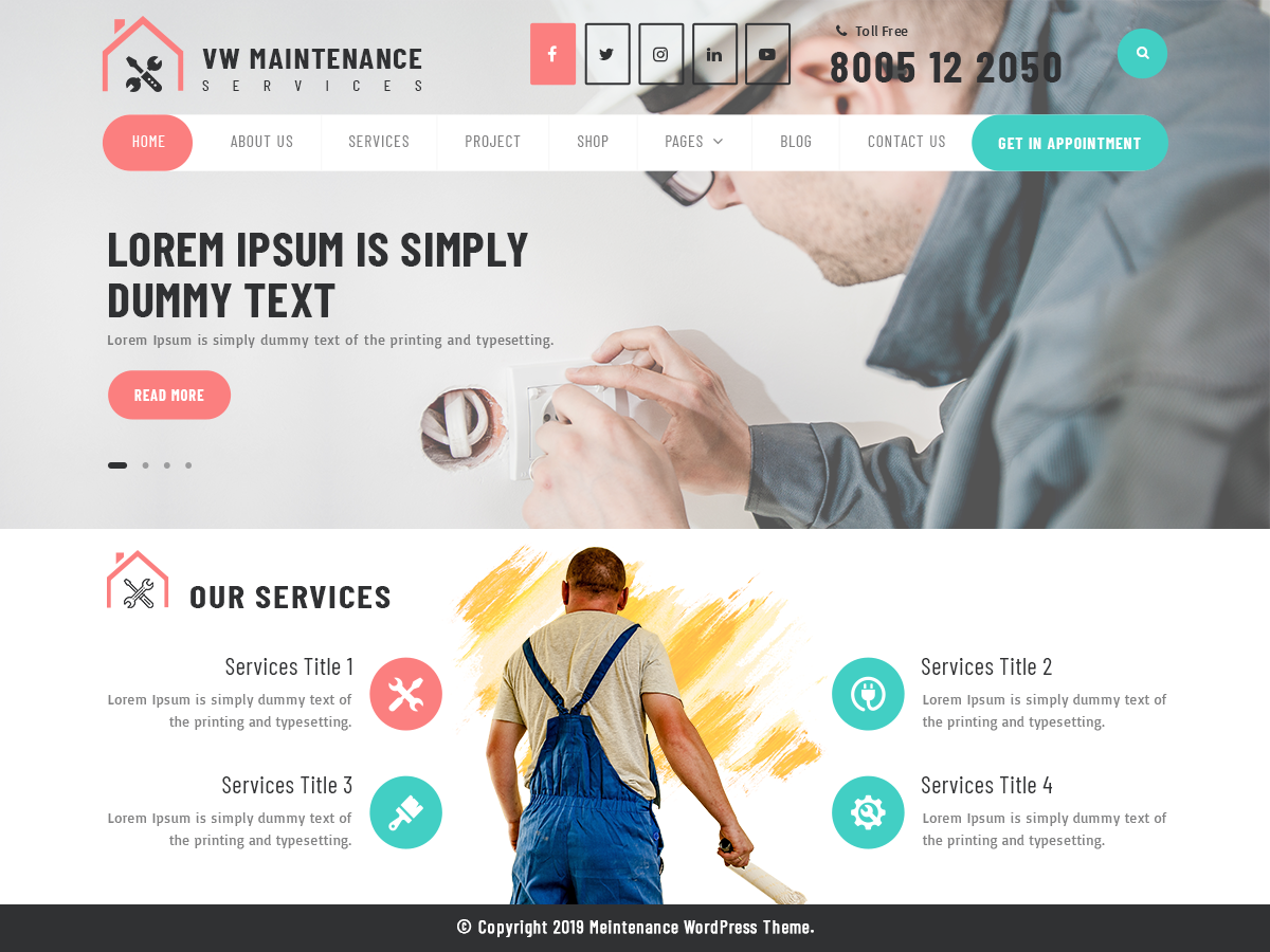 VW Maintenance Preview Wordpress Theme - Rating, Reviews, Preview, Demo & Download