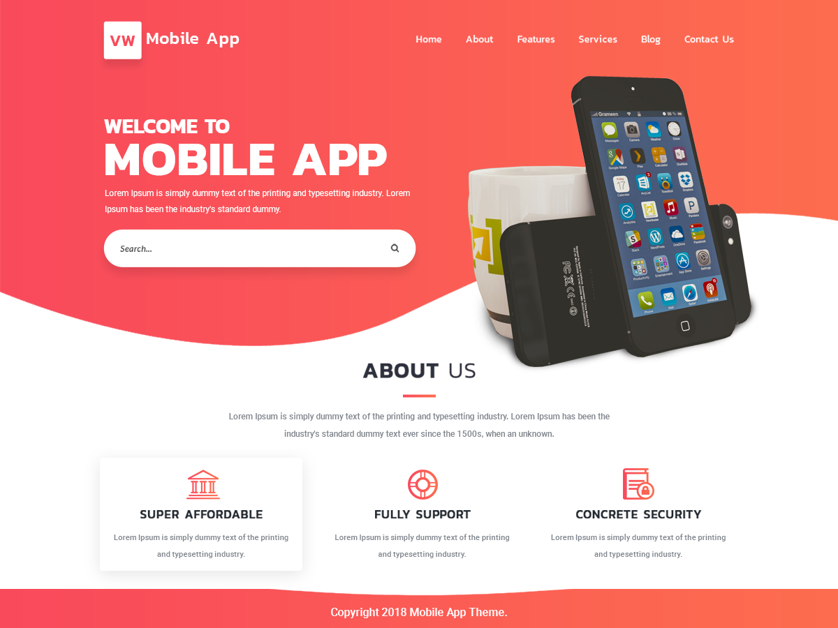 VW Mobile Preview Wordpress Theme - Rating, Reviews, Preview, Demo & Download