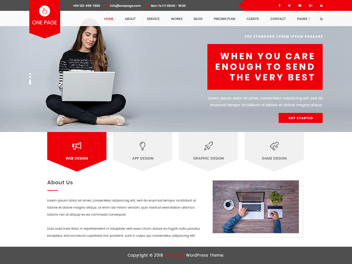 VW One Preview Wordpress Theme - Rating, Reviews, Preview, Demo & Download