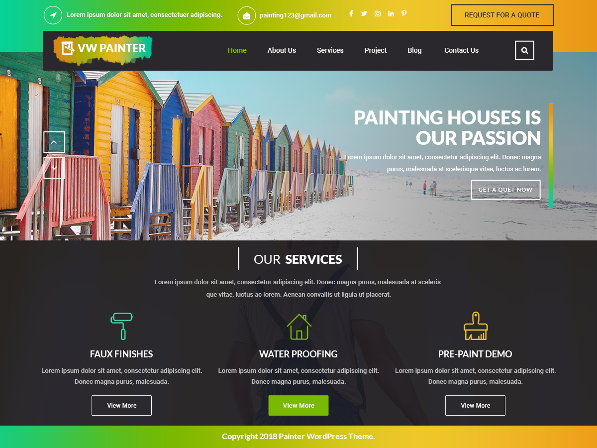 VW Painter Preview Wordpress Theme - Rating, Reviews, Preview, Demo & Download