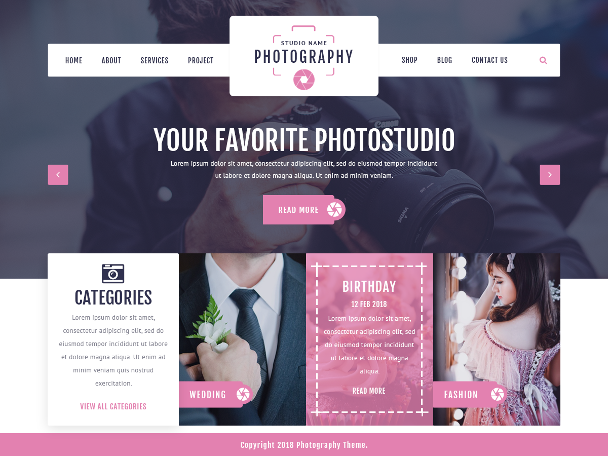 VW Photography Preview Wordpress Theme - Rating, Reviews, Preview, Demo & Download