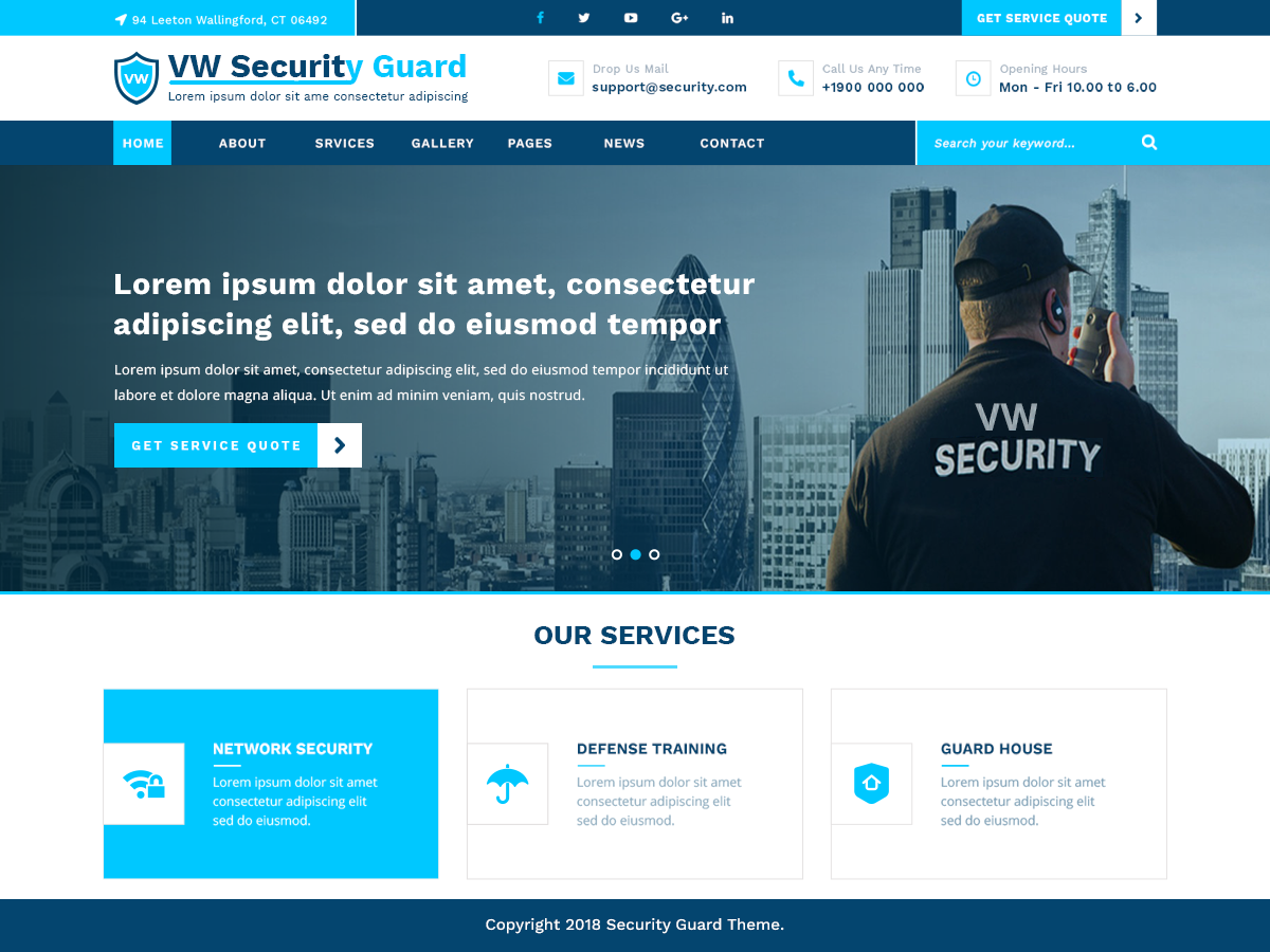VW Security Preview Wordpress Theme - Rating, Reviews, Preview, Demo & Download