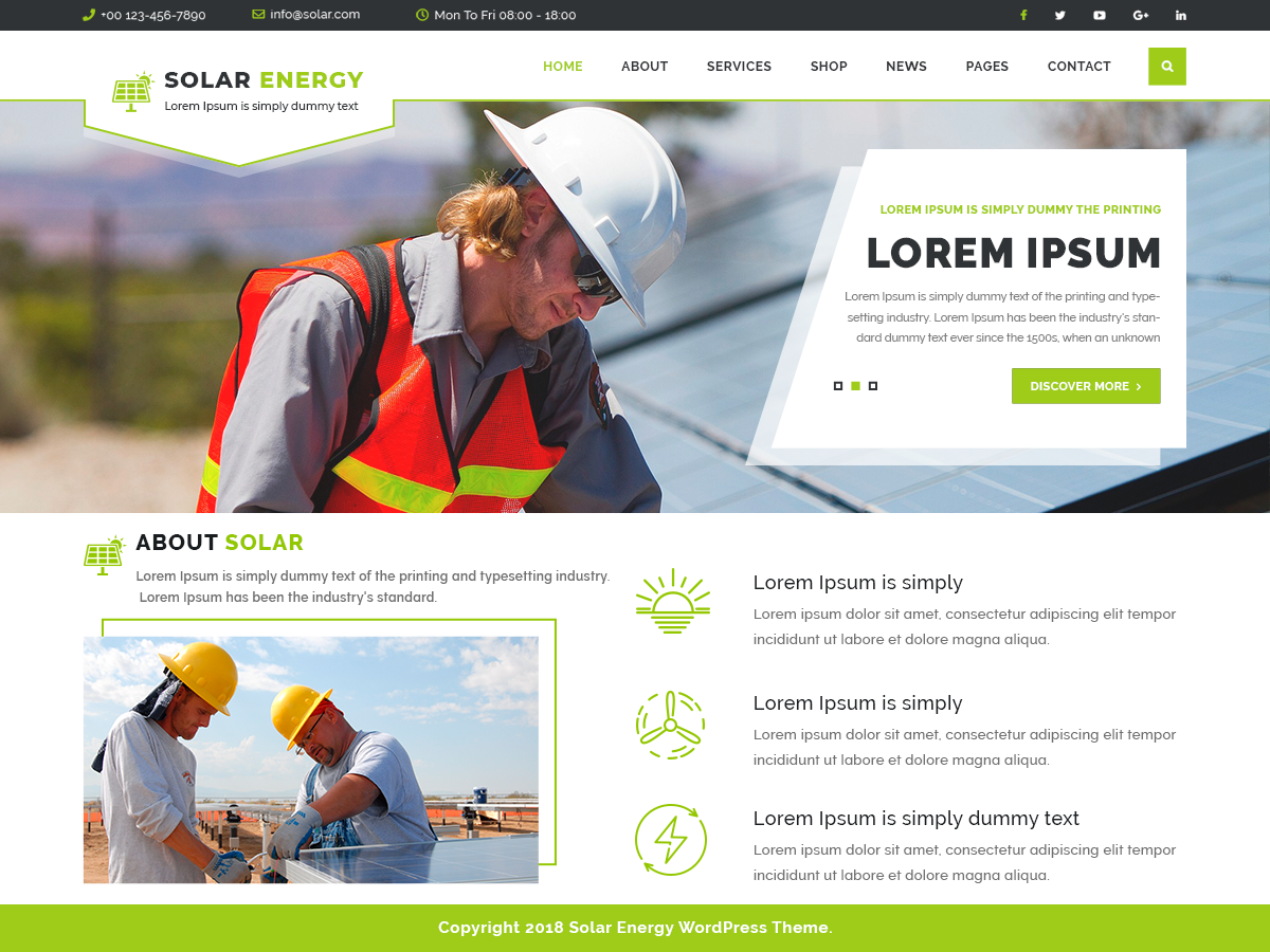VW Solar Preview Wordpress Theme - Rating, Reviews, Preview, Demo & Download