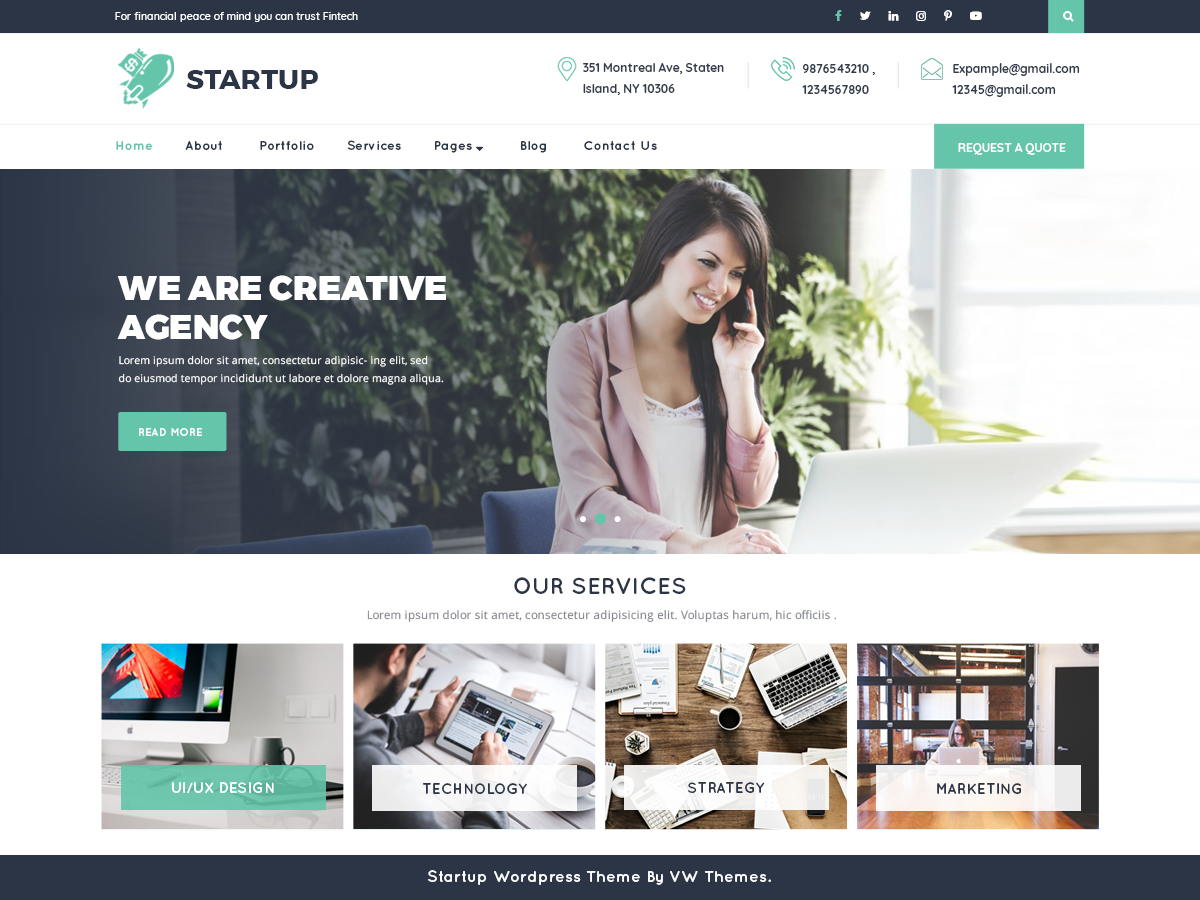 VW Startup Preview Wordpress Theme - Rating, Reviews, Preview, Demo & Download