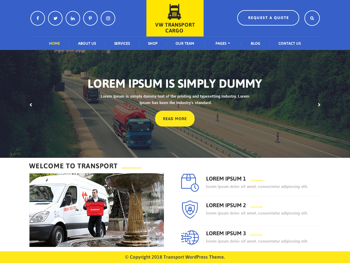 VW Transport Preview Wordpress Theme - Rating, Reviews, Preview, Demo & Download