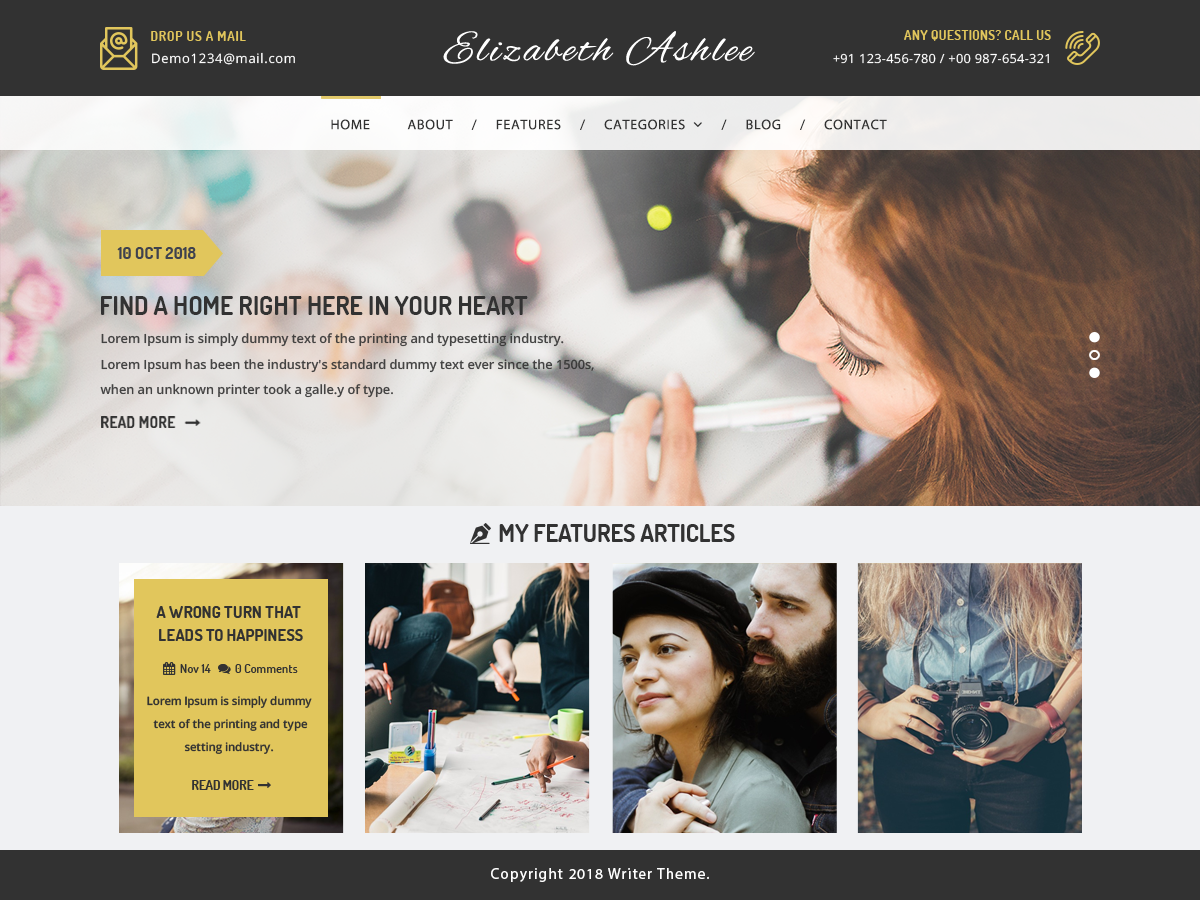 VW Writer Preview Wordpress Theme - Rating, Reviews, Preview, Demo & Download