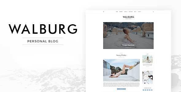 Walburg Preview Wordpress Theme - Rating, Reviews, Preview, Demo & Download