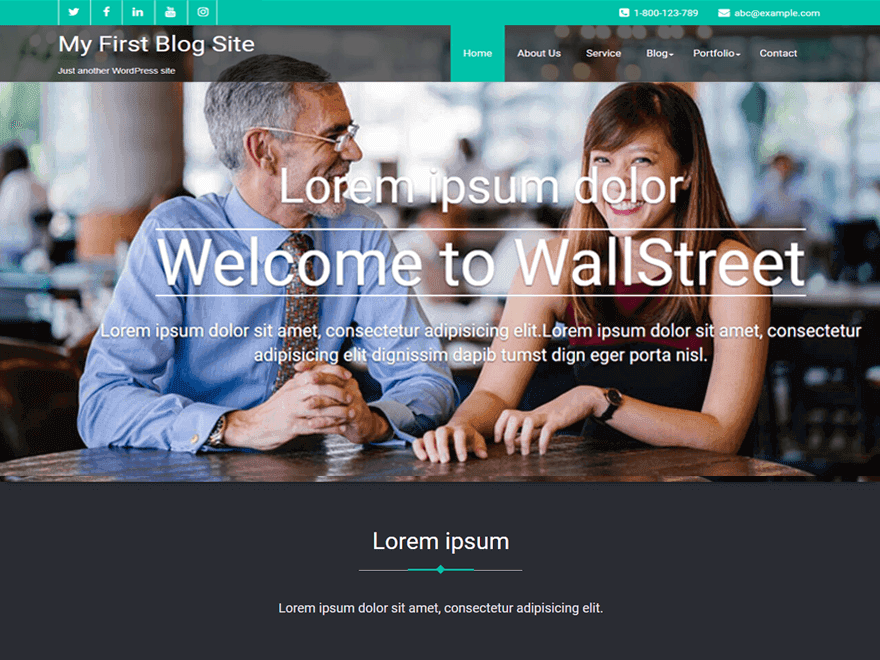 Wallstreet Preview Wordpress Theme - Rating, Reviews, Preview, Demo & Download