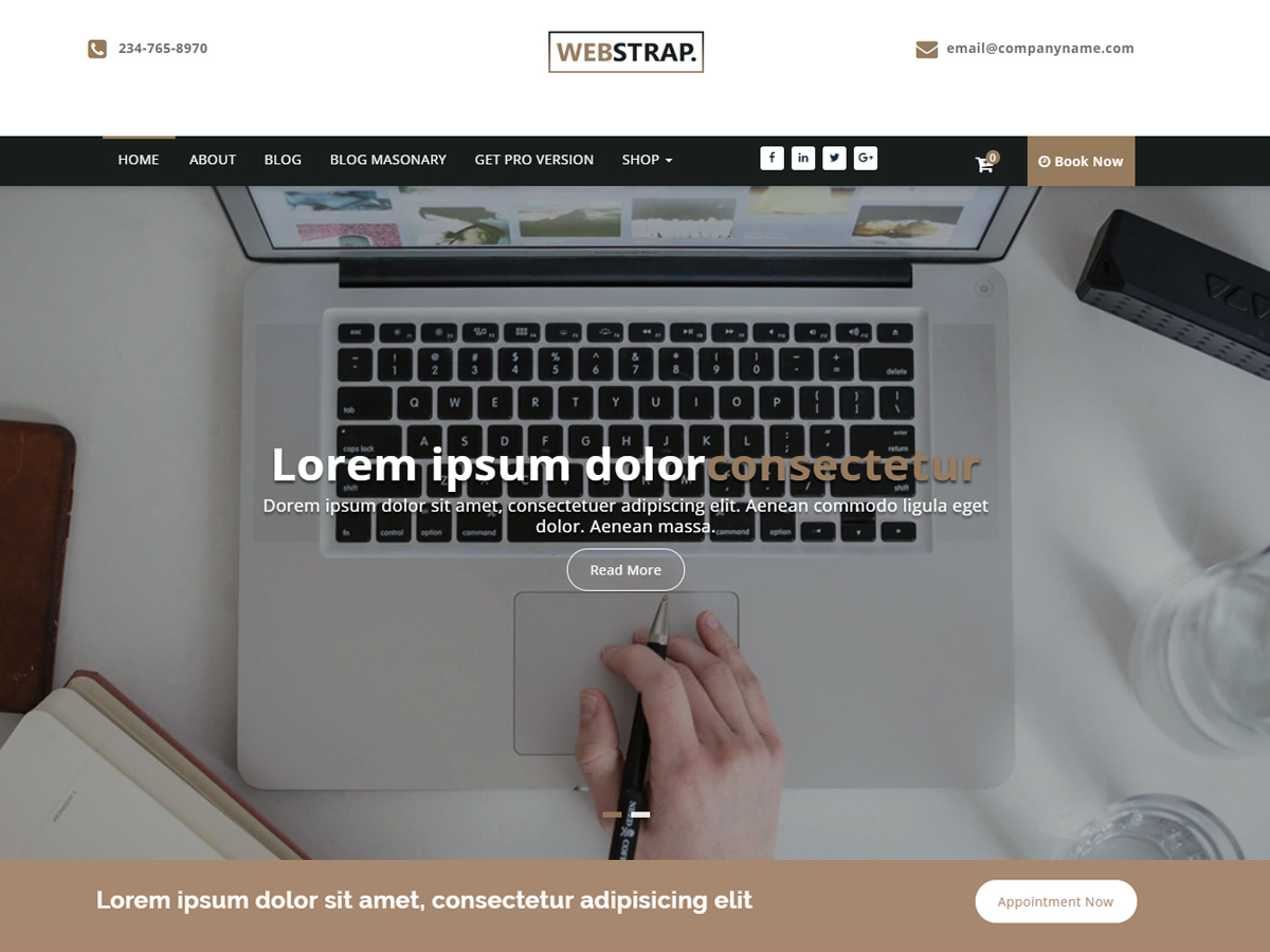 Webstrap Preview Wordpress Theme - Rating, Reviews, Preview, Demo & Download