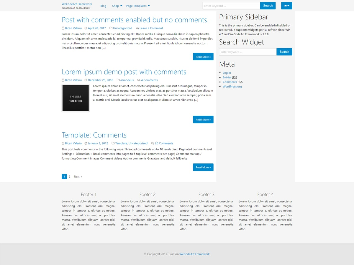 WeCodeArt Preview Wordpress Theme - Rating, Reviews, Preview, Demo & Download