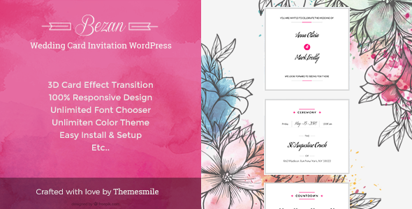 Wedding Card Preview Wordpress Theme - Rating, Reviews, Preview, Demo & Download
