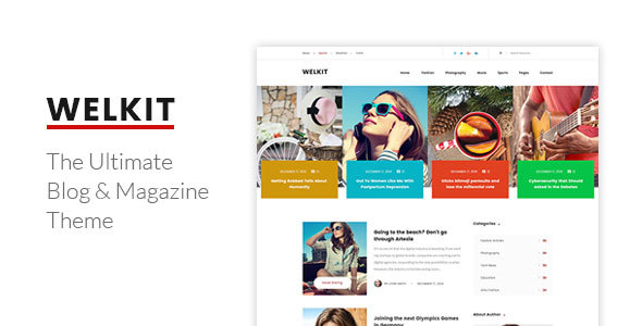 Welkit Preview Wordpress Theme - Rating, Reviews, Preview, Demo & Download