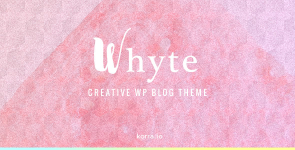 Whyte Preview Wordpress Theme - Rating, Reviews, Preview, Demo & Download