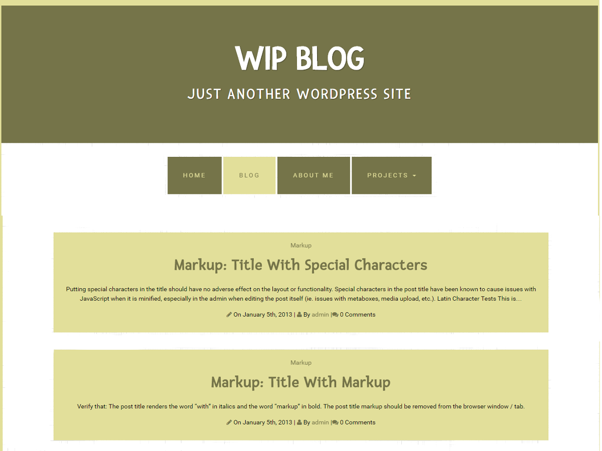 Wip Blog Preview Wordpress Theme - Rating, Reviews, Preview, Demo & Download