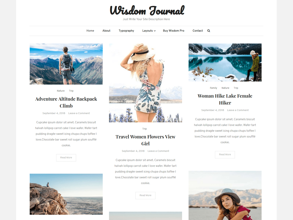 Wisdom Journal Preview Wordpress Theme - Rating, Reviews, Preview, Demo & Download