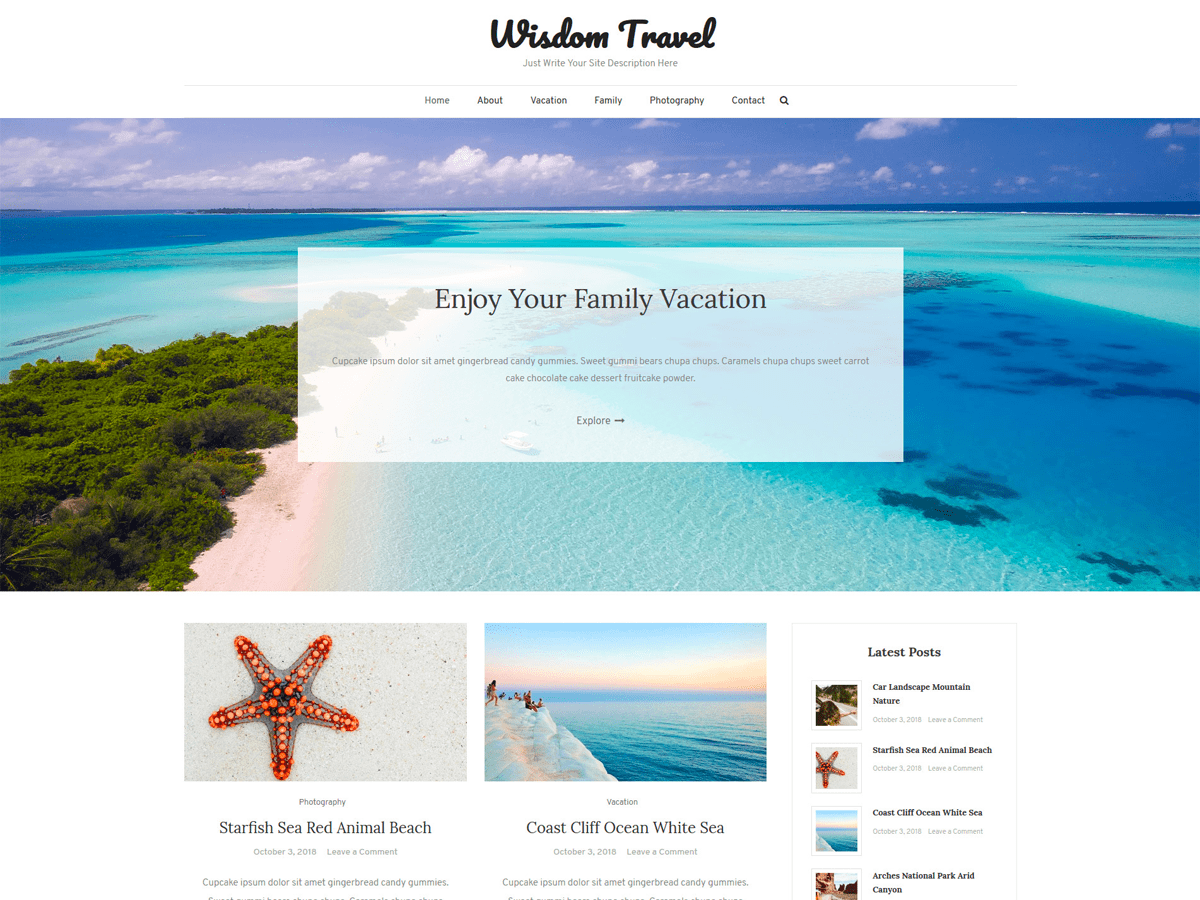 Wisdom Travel Preview Wordpress Theme - Rating, Reviews, Preview, Demo & Download