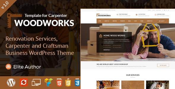 Wood Works Preview Wordpress Theme - Rating, Reviews, Preview, Demo & Download