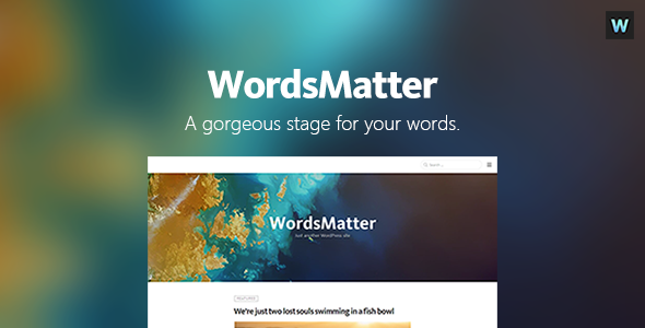 WordsMatter Preview Wordpress Theme - Rating, Reviews, Preview, Demo & Download