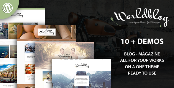Worldblog Preview Wordpress Theme - Rating, Reviews, Preview, Demo & Download
