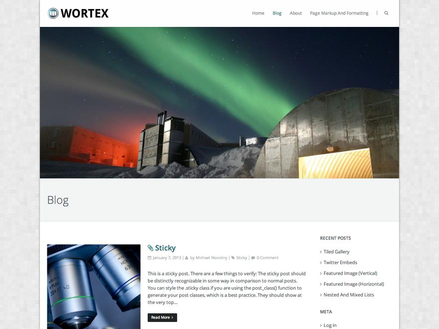Wortex Lite Preview Wordpress Theme - Rating, Reviews, Preview, Demo & Download