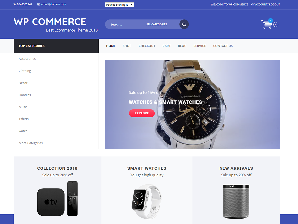 WP Commerce Preview Wordpress Theme - Rating, Reviews, Preview, Demo & Download