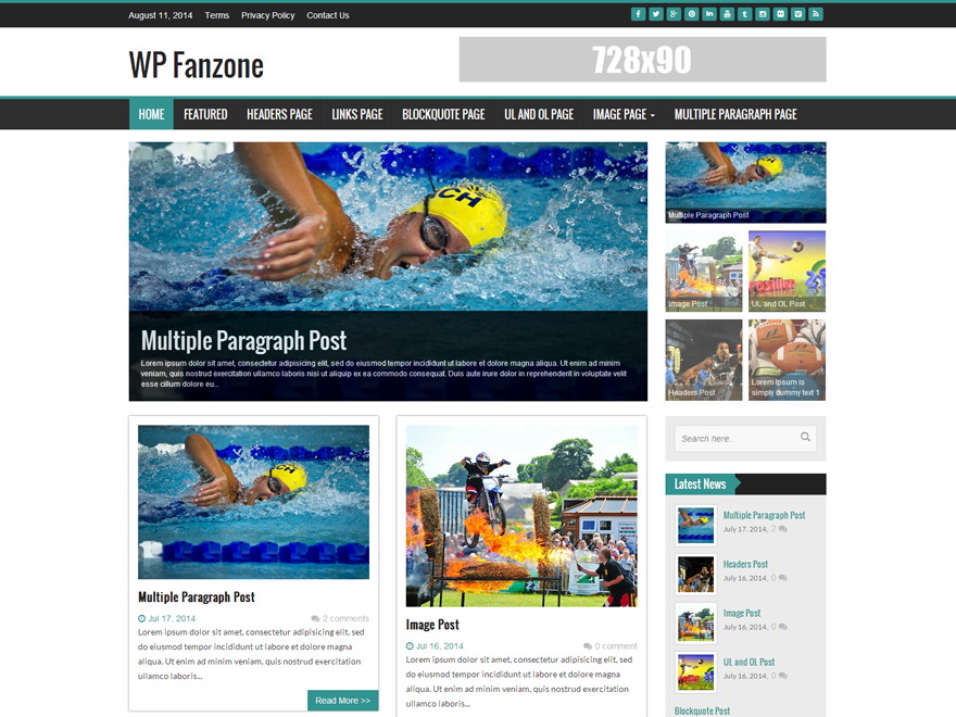 WP FanZone Preview Wordpress Theme - Rating, Reviews, Preview, Demo & Download