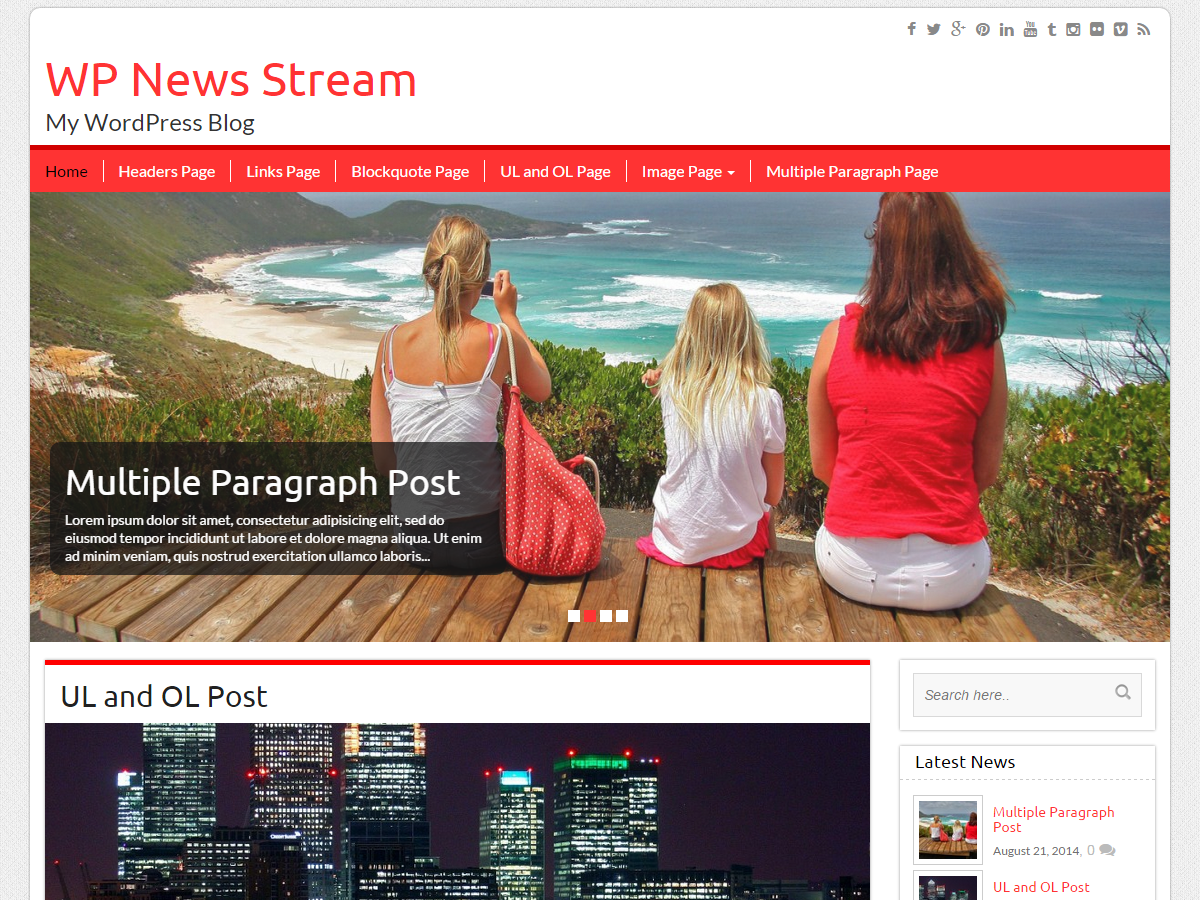 WP News Preview Wordpress Theme - Rating, Reviews, Preview, Demo & Download