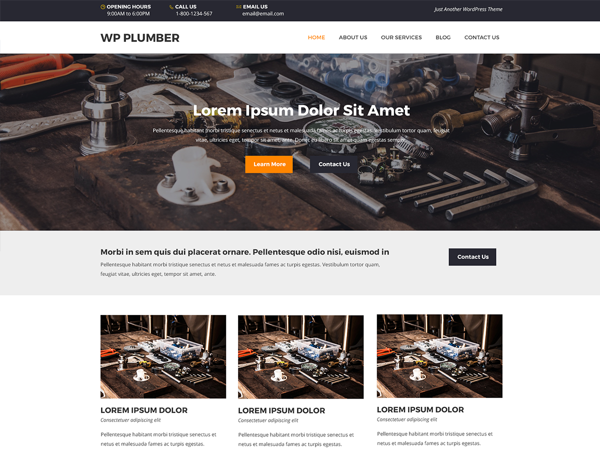 WP Plumber Preview Wordpress Theme - Rating, Reviews, Preview, Demo & Download