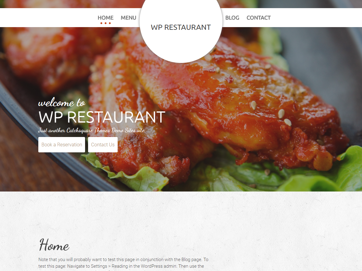 WP Restaurant Preview Wordpress Theme - Rating, Reviews, Preview, Demo & Download
