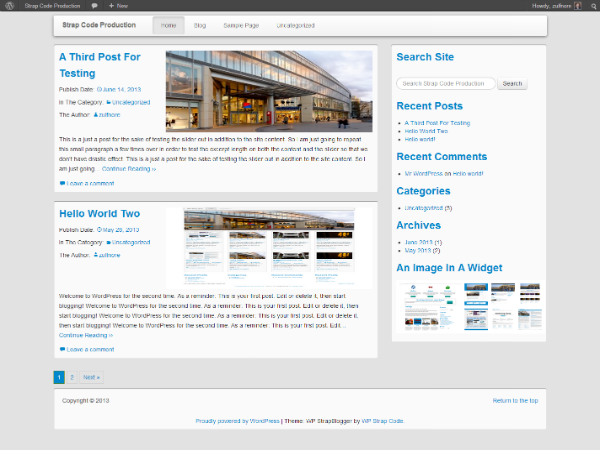 WP StrapBlogger Preview Wordpress Theme - Rating, Reviews, Preview, Demo & Download