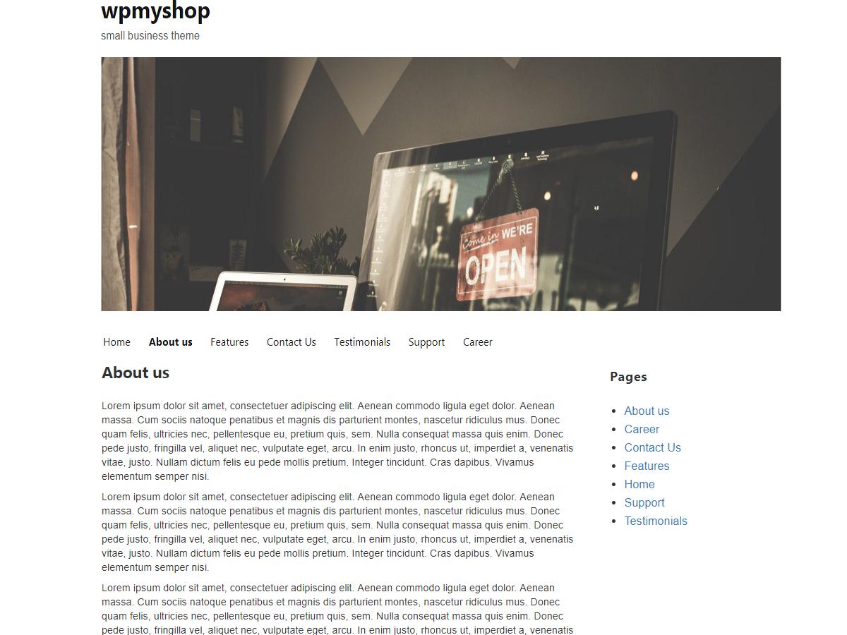Wpmyshop Preview Wordpress Theme - Rating, Reviews, Preview, Demo & Download