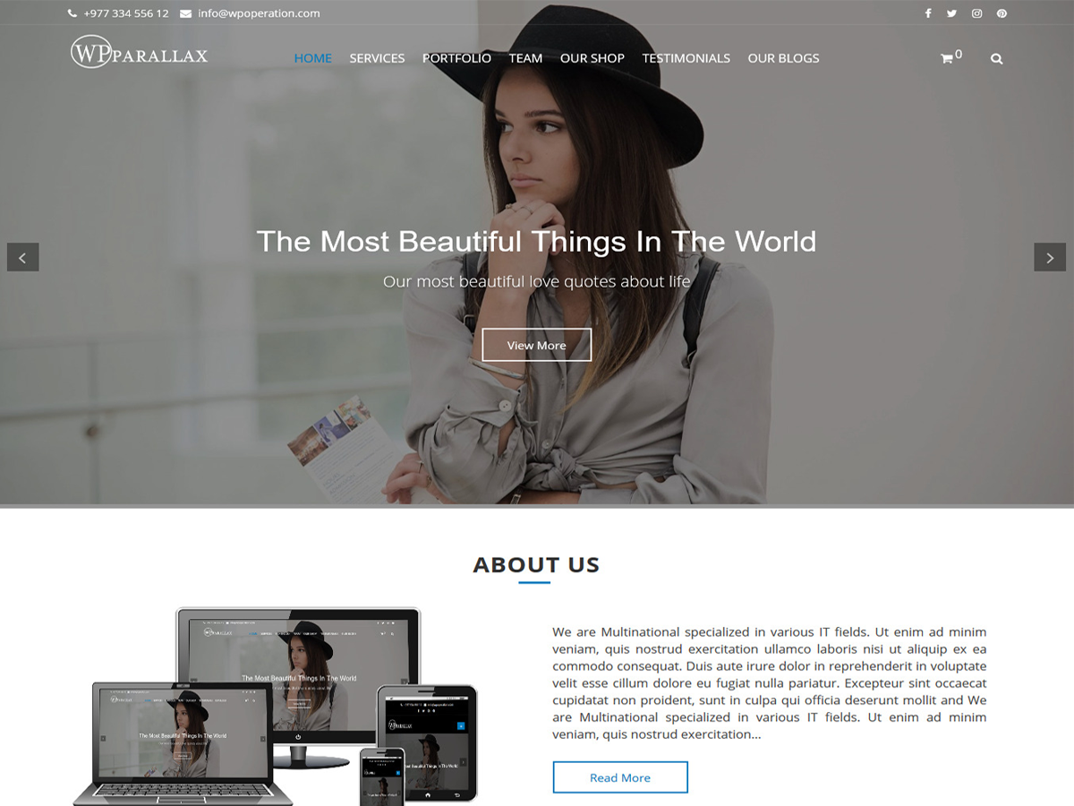 Wpparallax Preview Wordpress Theme - Rating, Reviews, Preview, Demo & Download
