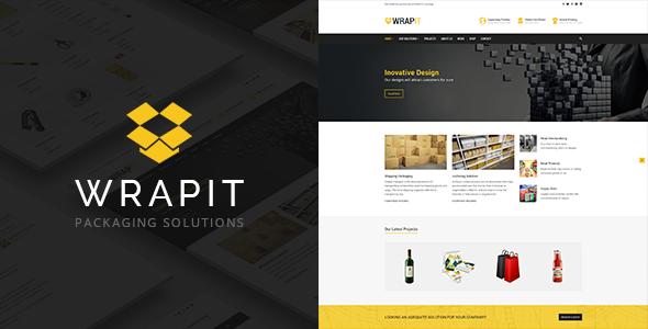 WrapIt Preview Wordpress Theme - Rating, Reviews, Preview, Demo & Download