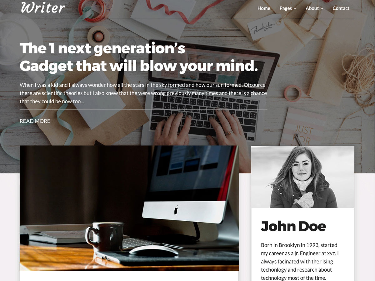 Writer Blog Preview Wordpress Theme - Rating, Reviews, Preview, Demo & Download