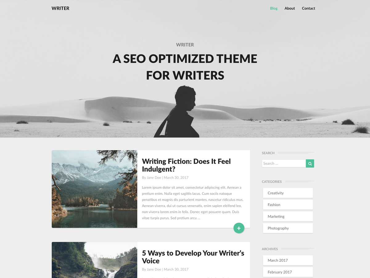 Writers Preview Wordpress Theme - Rating, Reviews, Preview, Demo & Download