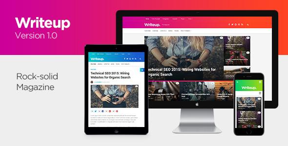 Writeup Preview Wordpress Theme - Rating, Reviews, Preview, Demo & Download