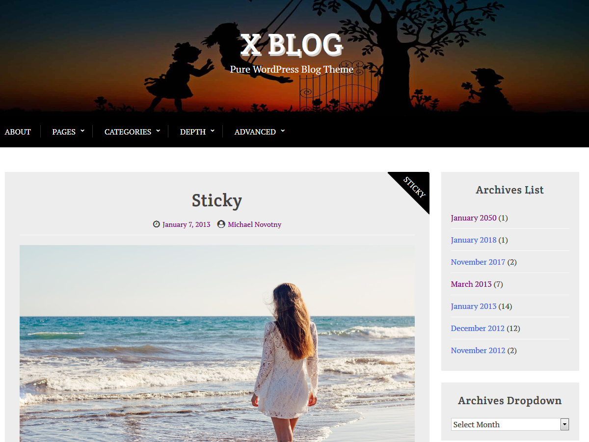 X Blog Preview Wordpress Theme - Rating, Reviews, Preview, Demo & Download